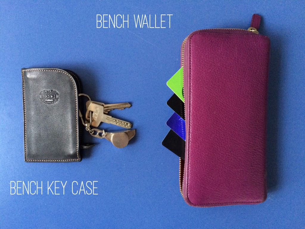 Whats in my bag - Bench Wallet and Bench Key Case