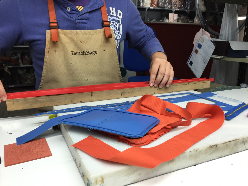 A day at the factory - sky crossbody bag - BenchBags 3