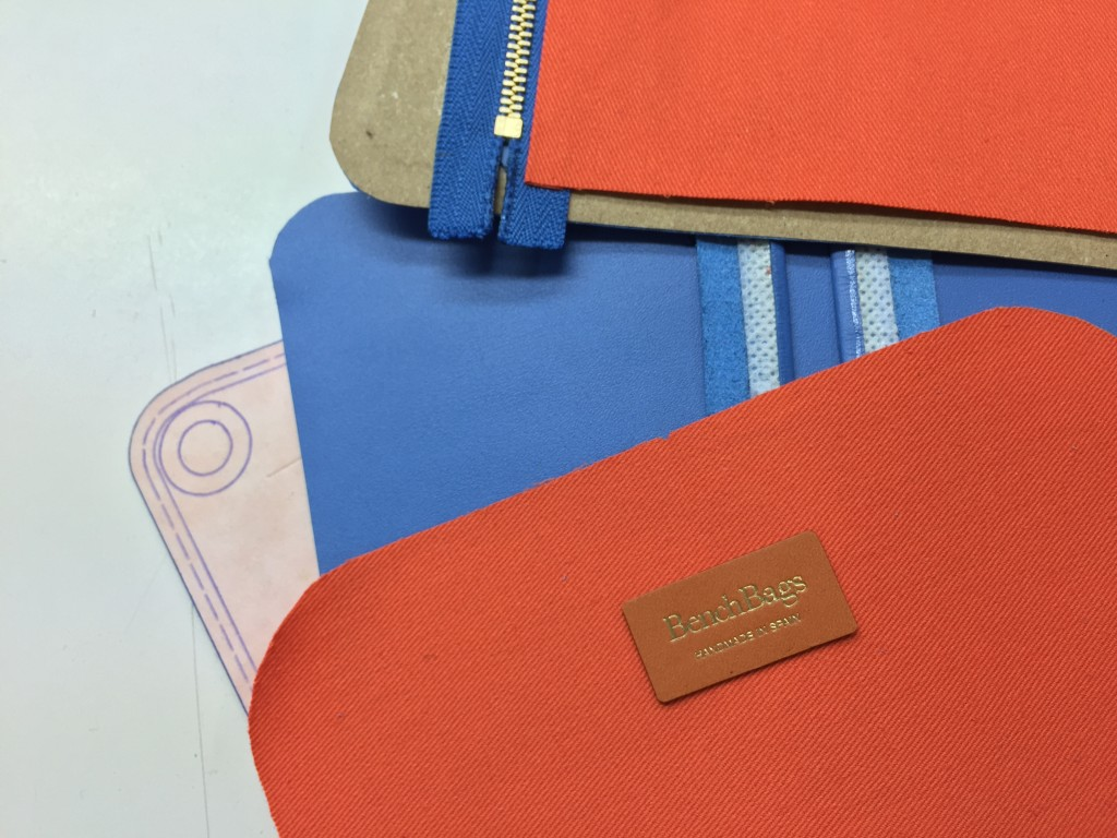 A day at the factory - sky crossbody bag - BenchBags 4