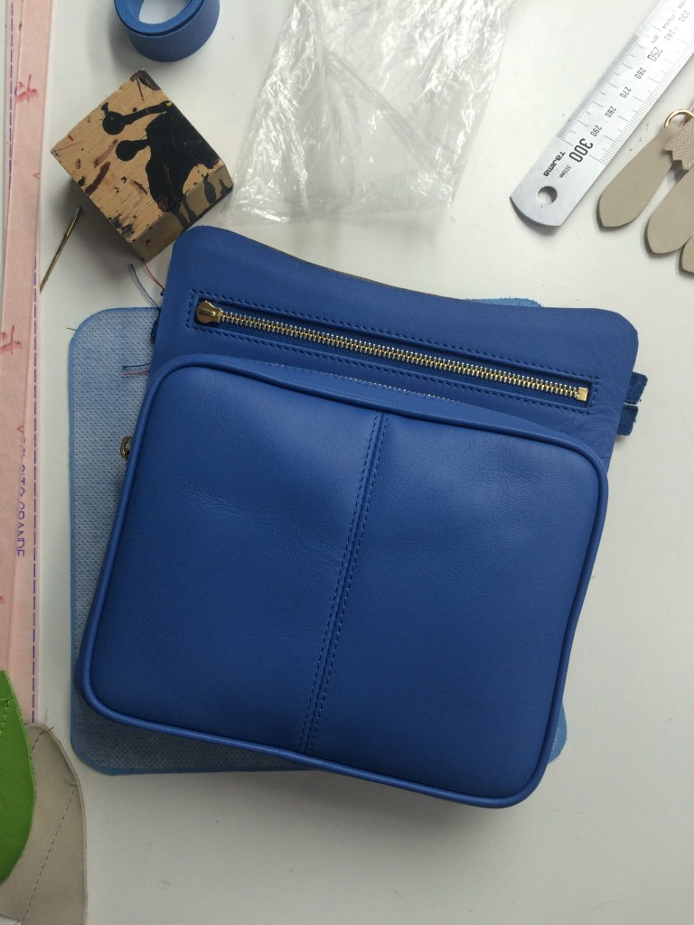 A day at the factory - sky crossbody bag - BenchBags 8