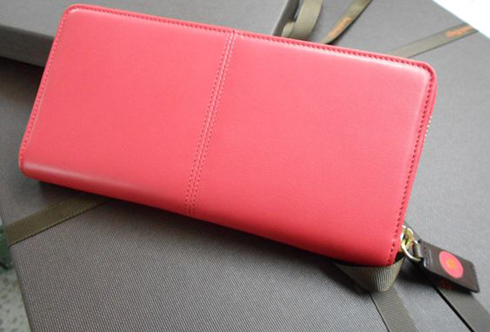 Coral Zip Around Continental Wallet