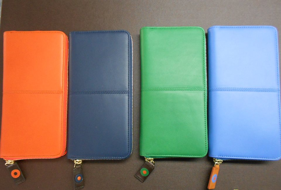 Zip Around Continental Wallet: Burnt Orange, Royal, Jade & Sky