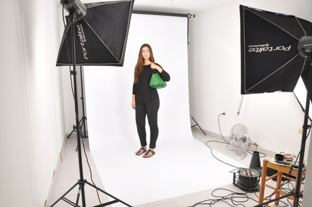 Making Off Photoshoot BenchBags with the jade taleguita